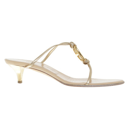 Hermès sandali color oro