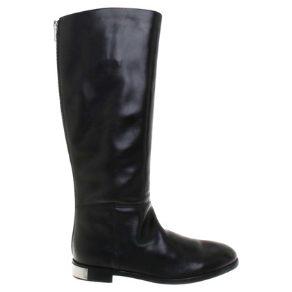 Marc by Marc Jacobs Leder-Stiefel in Schwarz