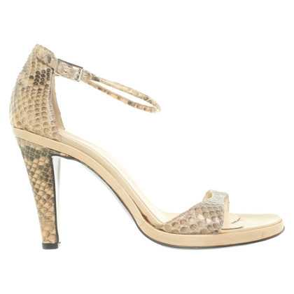 Pollini Sandals made of snakeskin