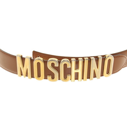Moschino riem met logo applicatie