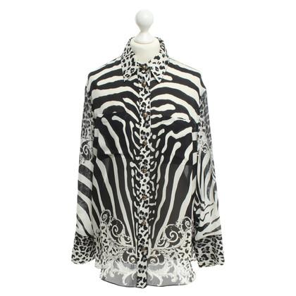 Balmain Zijden blouse met animal print