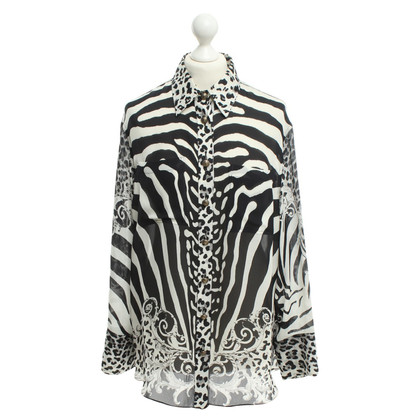 Balmain Silk blouse with animal print