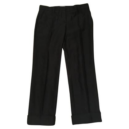 Prada Wollen broek in zwart