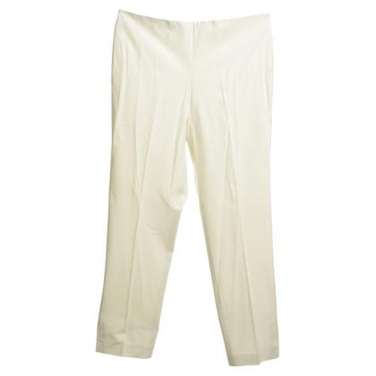 Gunex pantaloni a pieghe in crema