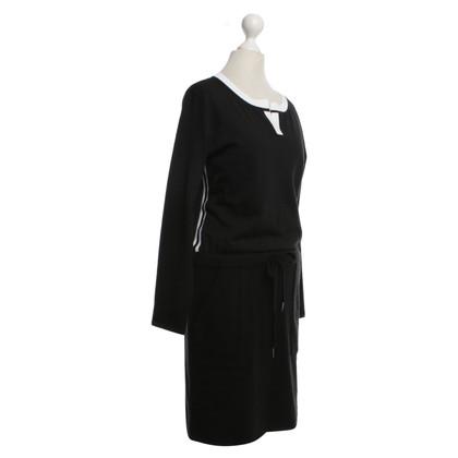 Marc Cain Wollen jurk in zwart / White