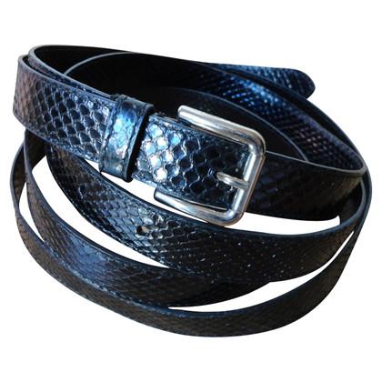 Dolce & Gabbana Printed Python leather belt