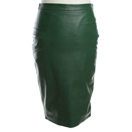By Malene Birger Leather skirt in green