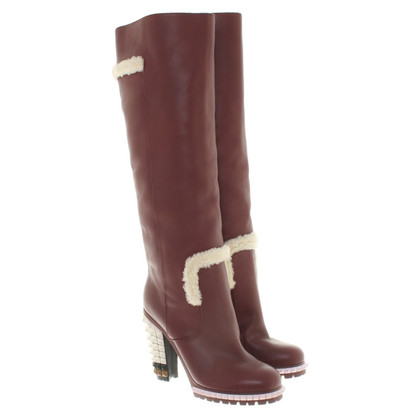 Fendi Stiefel in Bordeaux