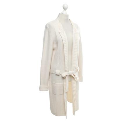 Marina Rinaldi cappotto di maglia in crema