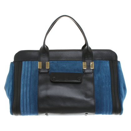 "Chloé ""Alice Bag"" in nero / blu"