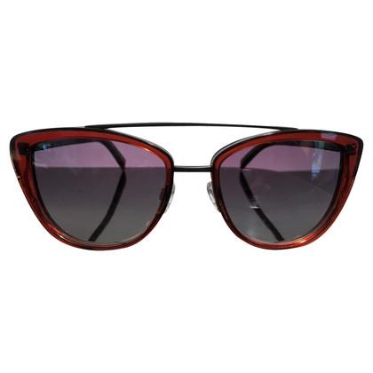 Jil Sander Cat Eye Sonnenbrille aus Titan