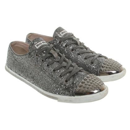 Miu Miu Sneakers in Metallic