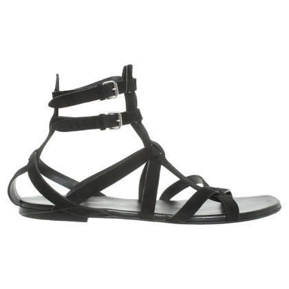 Yves Saint Laurent sandali in camoscio
