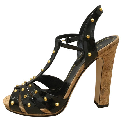 Gucci Black studded sandals