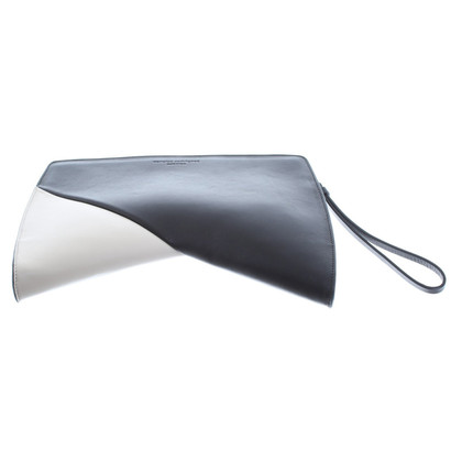 Narciso Rodriguez clutch in zwart / wit