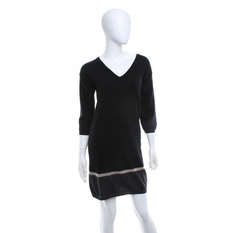 360 Sweater Strickkleid aus Kaschmir Schwarz