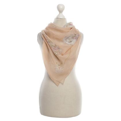 Alexander McQueen Zijden sjaal met skull print