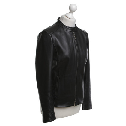 Hugo Boss Lederjacke in Schwarz