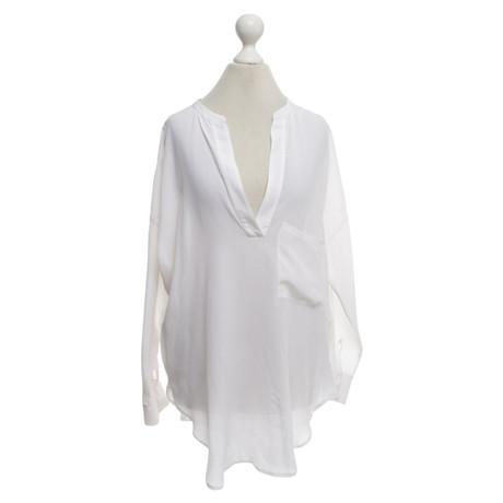 Sack's Asymmetrische Bluse Creme