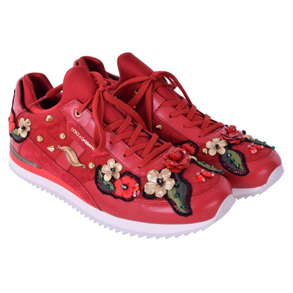 Dolce & Gabbana Sneakers NIGERIA with embroidery red
