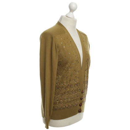 Louis Vuitton Cardigan in cashmere con borchie