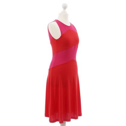 Piu & Piu Abito bi-colore in rosa-rosso