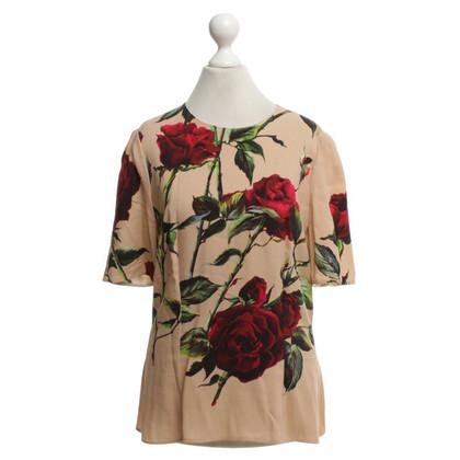 Dolce & Gabbana T-shirt met bloemenprint