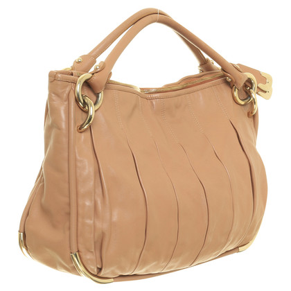 Bally Lederhandtasche im pudrigen Nude