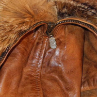 Belstaff Leather coat with fur
