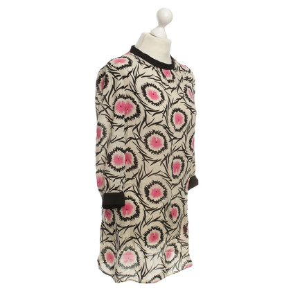 Milly Silk dress with graphic patterns