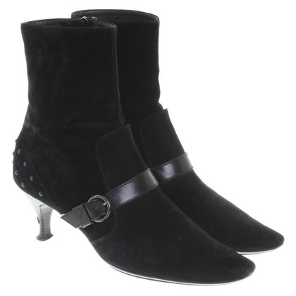 Tod's Suede Boots in Black