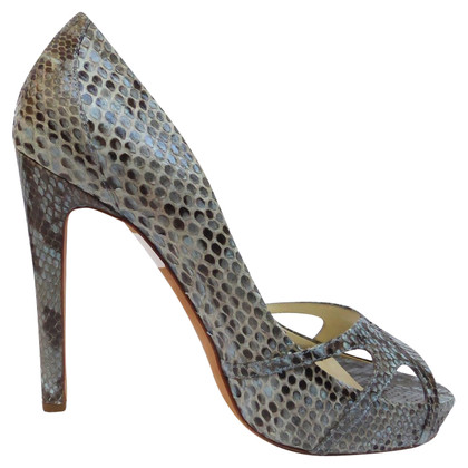 Rupert Sanderson Peeptoe of reptile leather