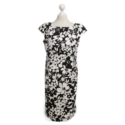 Laurèl Sheath dress in black / white