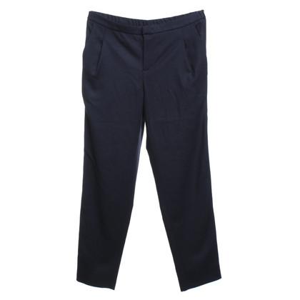 Set trousers in dark blue
