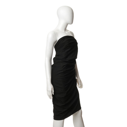 Donna Karan Bandeau dress in black