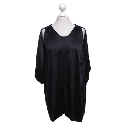 Alexander Wang Oversized silk top in black