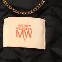 Matthew Williamson Kunstlederjacke mit Strick-Einsätzen