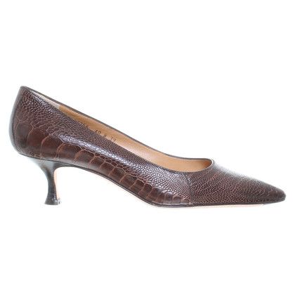 Santoni Pumps with snakeskin