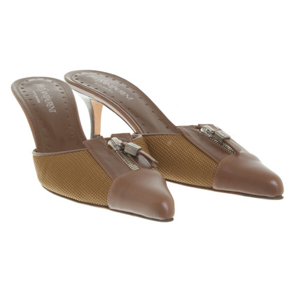 Yves Saint Laurent Mules a Brown