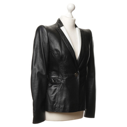 Just Cavalli Leather jacket in black