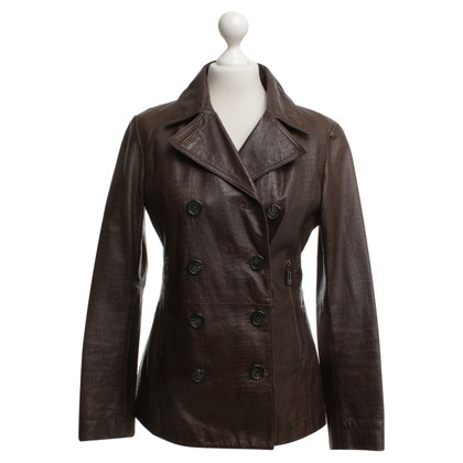 Michael Kors Leather jacket with reptile embossing