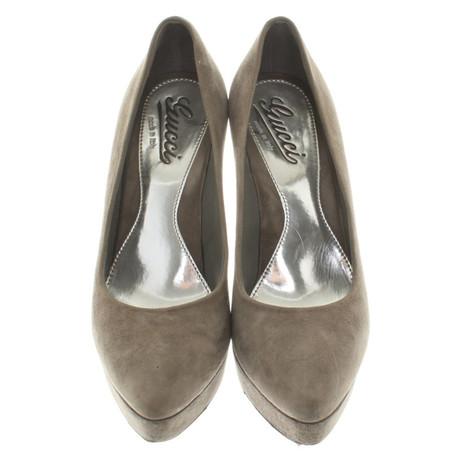 Gucci Pumps in Grau Grau Billig Verkauf N5Cu0j