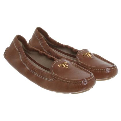 Prada Loafers in Karamel