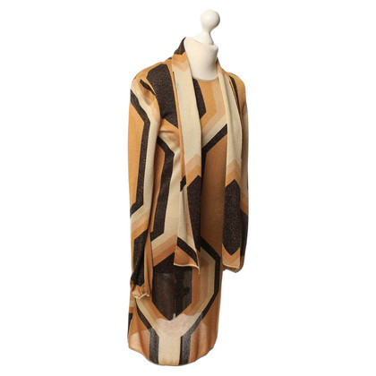 Gucci Patroon Goldenfarbenes jurk