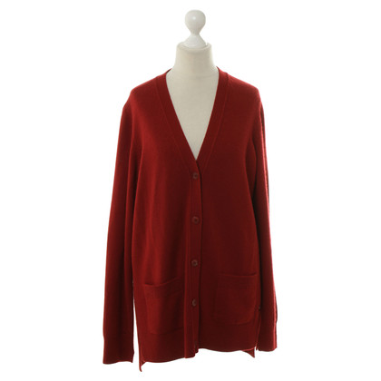 Loro Piana Kaschmir-Strickjacke in Rot
