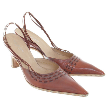 Dries van Noten Slingbacks leather in brown