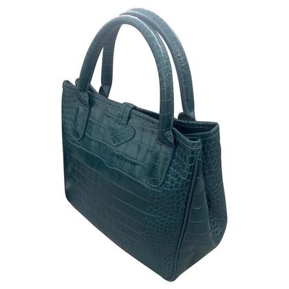 Longchamp Handtasche mit Krokodilprägung