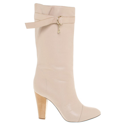 Patrizia Pepe Leather boots in cream