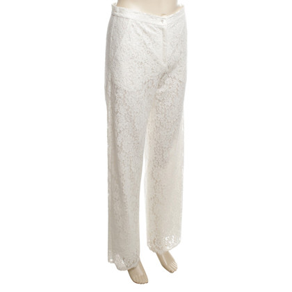 Valerie Khalfon  Trousers made of white lace