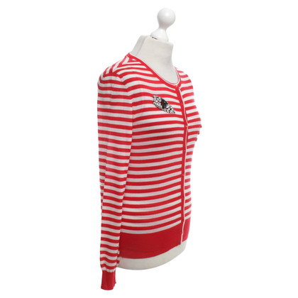 Ermanno Scervino Striped cashmere twin set